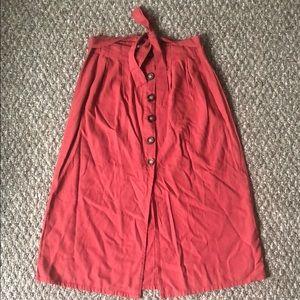 Pacsun high waisted midi skirt